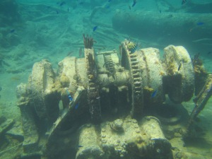 Wreck of the Cali engine